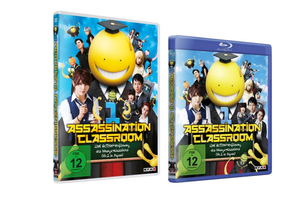 DVD Details zur Assassination Classroom Live- Action Adaption