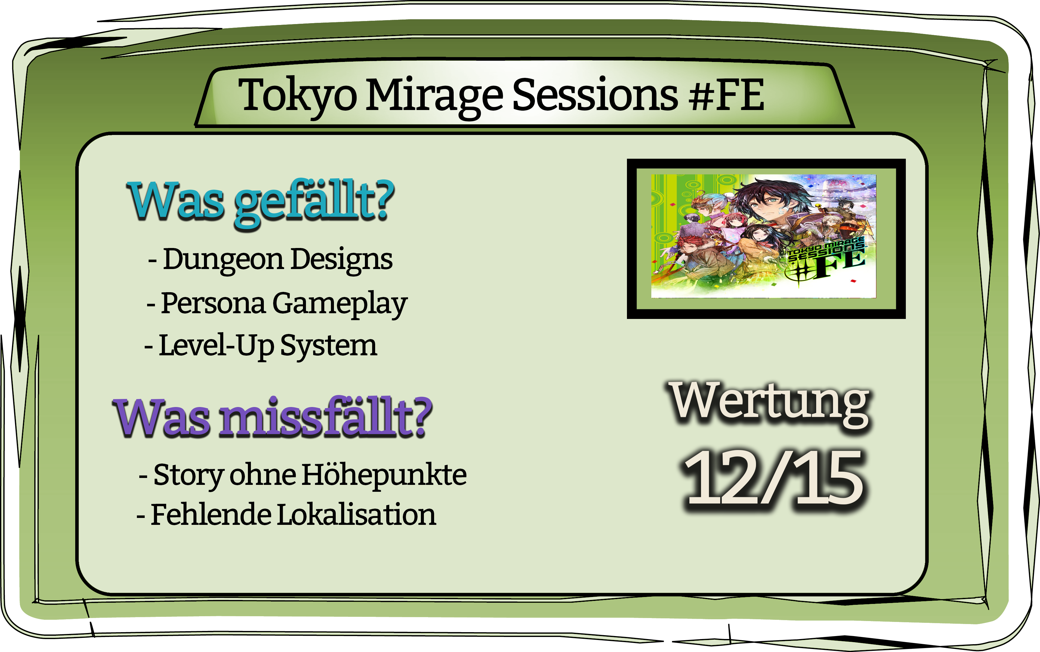 Tokyo Mirage Sessions Fazit